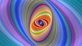 Красочная абстрактная предпосылка спирали эллипсиса - безшовный график движения петли видеоматериал