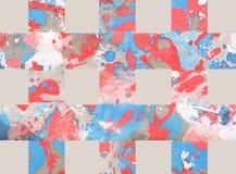 Красочная абстрактная предпосылка с нашивками Стоковая Фотография