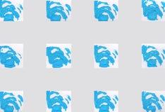 Красочная абстрактная предпосылка с штемпелями Стоковое Изображение RF
