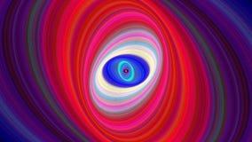 Красочная абстрактная предпосылка эллипсиса - безшовный график движения петли сток-видео
