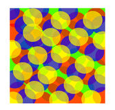 Красочная абстрактная предпосылка от кругов Стоковое Изображение RF
