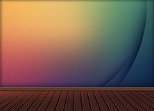 Красочная абстрактная предпосылка с деревянным полом текстуры картины Стоковая Фотография RF