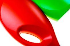 Красочная абстрактная предпосылка сделанная с пластичными бутылками Стоковые Изображения RF