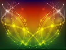 Красочная абстрактная предпосылка с линиями и bokeh Стоковое Изображение