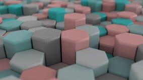красочная абстрактная решетка сота 4K сток-видео