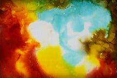 Красочная абстрактная текстура картины Стоковые Фото