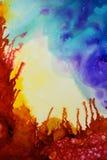 Красочная абстрактная текстура картины Стоковые Фотографии RF