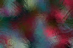 Красочная абстрактная текстура предпосылки картины льда Стоковая Фотография
