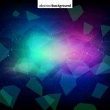 Красочная абстрактная темная кристаллическая предпосылка Стоковые Изображения