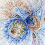 Красочная абстрактная фракталь Стоковые Фото