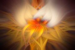 Красочная абстрактная футуристическая предпосылка; желтые линии извива Стоковые Фото