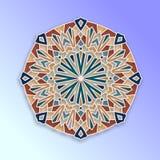 Красочная арабеска, геометрический дизайн в восточном стиле Мексиканская, испанская, турецкая мандала Стоковые Фотографии RF