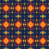 Красочная ацтекская безшовная картина Этнический геометрический орнамент бесплатная иллюстрация