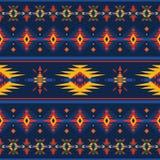 Красочная ацтекская безшовная картина Этнический геометрический орнамент иллюстрация вектора
