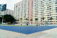 Красочная баскетбольная площадка в Гонконге Стоковое Изображение