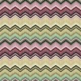 Красочная безшовная геометрическая картина зигзага Стоковые Фото
