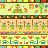 Красочная безшовная картина в египетском и традиционном африканце Стоковые Фотографии RF