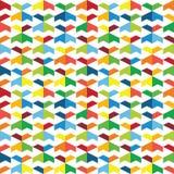 Красочная безшовная картина геометрических форм иллюстрация вектора