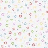 Красочная безшовная картина с геометрическими формами Нарисовано вручную иллюстрация вектора