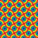 Красочная безшовная картина с кругами также вектор иллюстрации притяжки corel абстрактной радуга покрашенная предпосылкой Совреме Стоковая Фотография RF