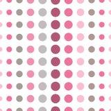Красочная безшовная картина с кругами, confetti Розовая и серая девушка ягнится палитра Фасонируйте стиль для textil печатей, бат Стоковая Фотография RF