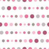 Красочная безшовная картина с кругами, confetti Розовая и серая девушка ягнится палитра Фасонируйте стиль для textil печатей, бат Стоковые Изображения RF