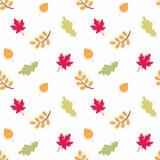 Красочная безшовная картина с листьями осени Стоковые Фотографии RF