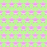 Красочная безшовная картина с striped звездами Стоковая Фотография