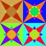 Красочная безшовная мозаика Стоковая Фотография RF