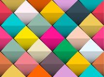 Красочная безшовная предпосылка вектора с ретро квадратами соответствующими для дизайнов сети или печати стоковые фото