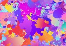 Красочная безшовная предпосылка с падениями краски искусства, пятна картины бесплатная иллюстрация