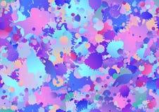 Красочная безшовная предпосылка с падениями краски искусства, пятна картины иллюстрация вектора