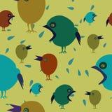 Красочная безшовная предпосылка с птицами Стоковые Фото