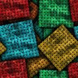 Красочная безшовная текстурированная предпосылка мозаики Стоковое Изображение