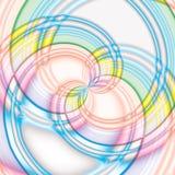 Красочная большая спиральная предпосылка конфеты Стоковое Изображение