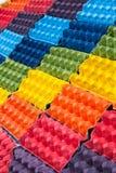 Красочная бумажная текстура предпосылки искусства Стоковое Изображение