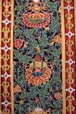 Красочная бутанская работа по дереву стоковое фото