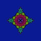 Красочная буддийская мандала Этническая символическая диаграмма Стоковые Фото