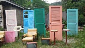 Красочная дверь Стоковое фото RF