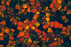 Красочная винтажная отделка стен керамических плиток Стоковое Изображение RF