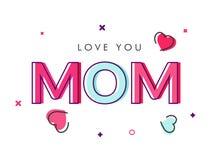 Красочная влюбленность текста вы мама бесплатная иллюстрация