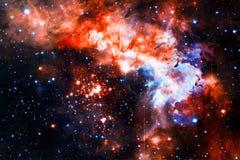 Красочная галактика в космическом пространстве Элементы этого изображения поставленные NASA стоковое фото