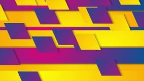 Красочная геометрическая абстрактная видео- анимация иллюстрация вектора