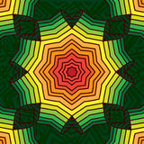 Красочная геометрическая картина, мандала Стиль регги, колесо, радуга, градиент иллюстрация вектора
