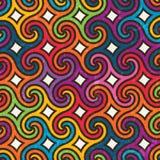 Красочная геометрическая картина с спиралями Стоковая Фотография RF