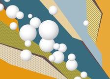 Красочная геометрическая предпосылка искусства попа со сферами бесплатная иллюстрация