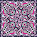 Красочная геометрическая шаль, картина шарфа Стоковые Изображения