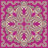 Красочная геометрическая шаль, картина шарфа Стоковая Фотография RF