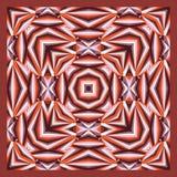 Красочная геометрическая шаль, картина шарфа Стоковые Фото