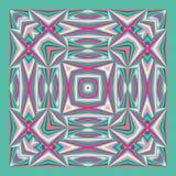 Красочная геометрическая шаль, картина шарфа Стоковое Изображение